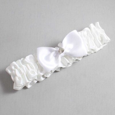 White Wedding Garter / White Wedding Garters / Jodi #01-B29-M04-112-White / Wedding Garters / Custom Wedding Garters / Bridal Garter / Prom Garter / Linda Joyce Couture
