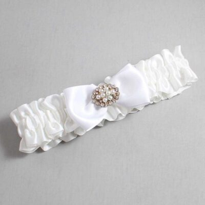White Wedding Garter / White Wedding Garters / Kathy #01-B31-M16-112-White / Wedding Garters / Custom Wedding Garters / Bridal Garter / Prom Garter / Linda Joyce Couture