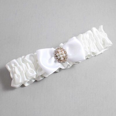 White Wedding Garter / White Wedding Garters / Lona #01-B31-M17-112-White / Wedding Garters / Custom Wedding Garters / Bridal Garter / Prom Garter / Linda Joyce Couture