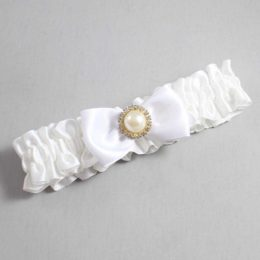 White Wedding Garter / White Wedding Garters / Kendra #01-B31-M21-112-White / Wedding Garters / Custom Wedding Garters / Bridal Garter / Prom Garter / Linda Joyce Couture