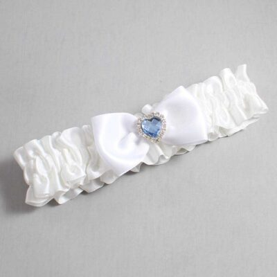 White Wedding Garter / White Wedding Garters / Judy #01-B31-M25-112-White / Wedding Garters / Custom Wedding Garters / Bridal Garter / Prom Garter / Linda Joyce Couture