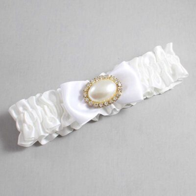 White Wedding Garter / White Wedding Garters / Juliette #01-B31-M28-112-White / Wedding Garters / Custom Wedding Garters / Bridal Garter / Prom Garter / Linda Joyce Couture
