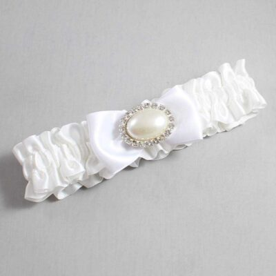 White Wedding Garter / White Wedding Garters / Juliette #01-B31-M30-112-White / Wedding Garters / Custom Wedding Garters / Bridal Garter / Prom Garter / Linda Joyce Couture
