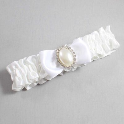 White Wedding Garter / White Wedding Garters / Mindy #01-B31-M31-112-White / Wedding Garters / Custom Wedding Garters / Bridal Garter / Prom Garter / Linda Joyce Couture