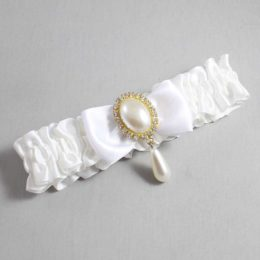 White Wedding Garter / White Wedding Garters / Meghan #01-B31-M34-112-White / Wedding Garters / Custom Wedding Garters / Bridal Garter / Prom Garter / Linda Joyce Couture
