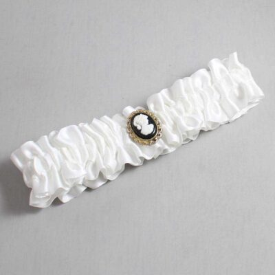 White Wedding Garter / White Wedding Garters / Cally #01-M15-112-White / Wedding Garters / Custom Wedding Garters / Bridal Garter / Prom Garter / Linda Joyce Couture