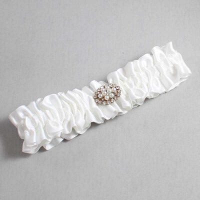 White Wedding Garter / White Wedding Garters / Fay #01-M16-112-White / Wedding Garters / Custom Wedding Garters / Bridal Garter / Prom Garter / Linda Joyce Couture