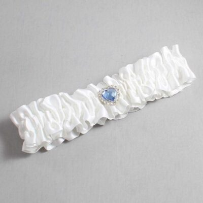 White Wedding Garter / White Wedding Garters / Lovie #01-M25-112-White / Wedding Garters / Custom Wedding Garters / Bridal Garter / Prom Garter / Linda Joyce Couture