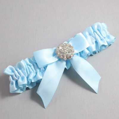 Alice Blue Wedding Garter / Blue Wedding Garters / Sarina #01-B02-M11-305-Alice-Blue / Wedding Garters / Custom Wedding Garters / Bridal Garter / Prom Garter / Linda Joyce Couture