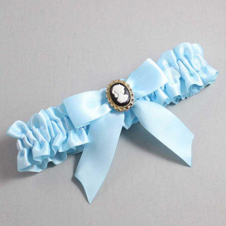 Alice Blue Wedding Garter / Blue Wedding Garters / Sherri #01-B02-M15-305-Alice-Blue / Wedding Garters / Custom Wedding Garters / Bridal Garter / Prom Garter / Linda Joyce Couture