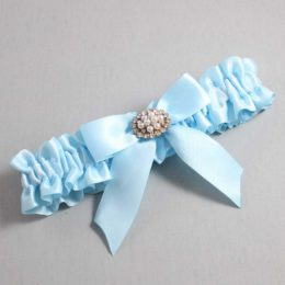 Alice Blue Wedding Garter / Blue Wedding Garters / Penelope #01-B02-M16-305-Alice-Blue / Wedding Garters / Custom Wedding Garters / Bridal Garter / Prom Garter / Linda Joyce Couture