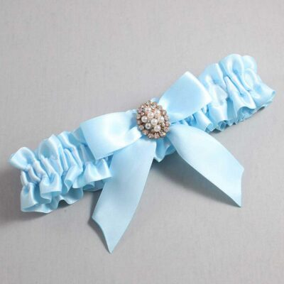 Alice Blue Wedding Garter / Blue Wedding Garters / Quinn #01-B02-M17-305-Alice-Blue / Wedding Garters / Custom Wedding Garters / Bridal Garter / Prom Garter / Linda Joyce Couture