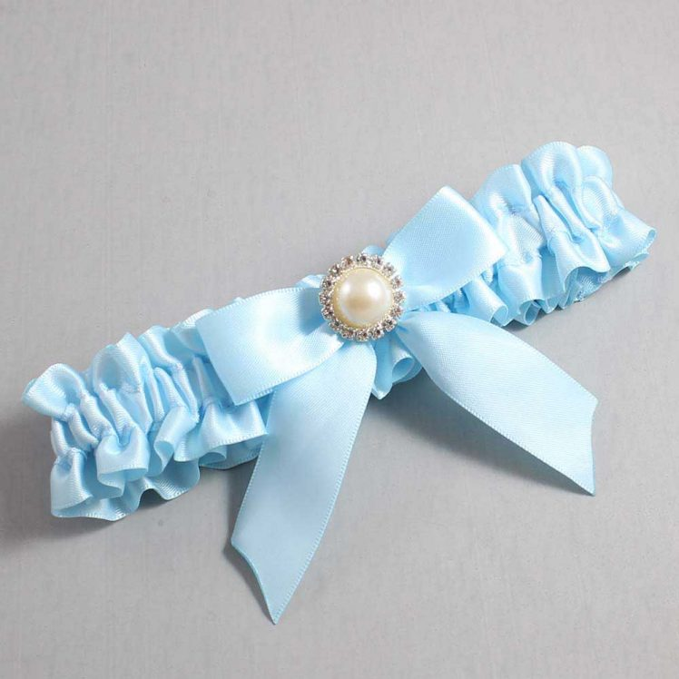 Alice Blue Wedding Garter / Blue Wedding Garters / Rubie #01-B02-M21-305-Alice-Blue / Wedding Garters / Custom Wedding Garters / Bridal Garter / Prom Garter / Linda Joyce Couture