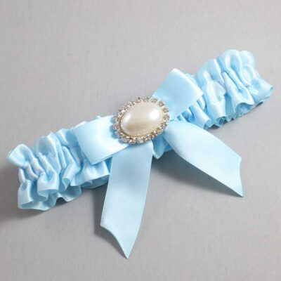 Alice Blue Wedding Garter / Blue Wedding Garters / Missy #01-B02-M30-305-Alice-Blue / Wedding Garters / Custom Wedding Garters / Bridal Garter / Prom Garter / Linda Joyce Couture