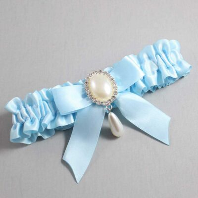 Alice Blue Wedding Garter / Blue Wedding Garters / Trina #01-B02-M35-305-Alice-Blue / Wedding Garters / Custom Wedding Garters / Bridal Garter / Prom Garter / Linda Joyce Couture