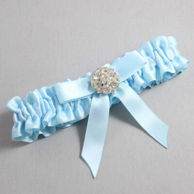 Alice Blue Wedding Garter / Blue Wedding Garters / Alicia #01-B03-M11-305-Alice-Blue / Wedding Garters / Custom Wedding Garters / Bridal Garter / Prom Garter / Linda Joyce Couture