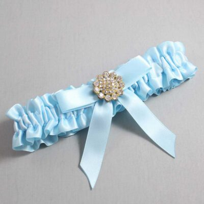 Alice Blue Wedding Garter / Blue Wedding Garters / Samantha #01-B03-M12-305-Alice-Blue / Wedding Garters / Custom Wedding Garters / Bridal Garter / Prom Garter / Linda Joyce Couture