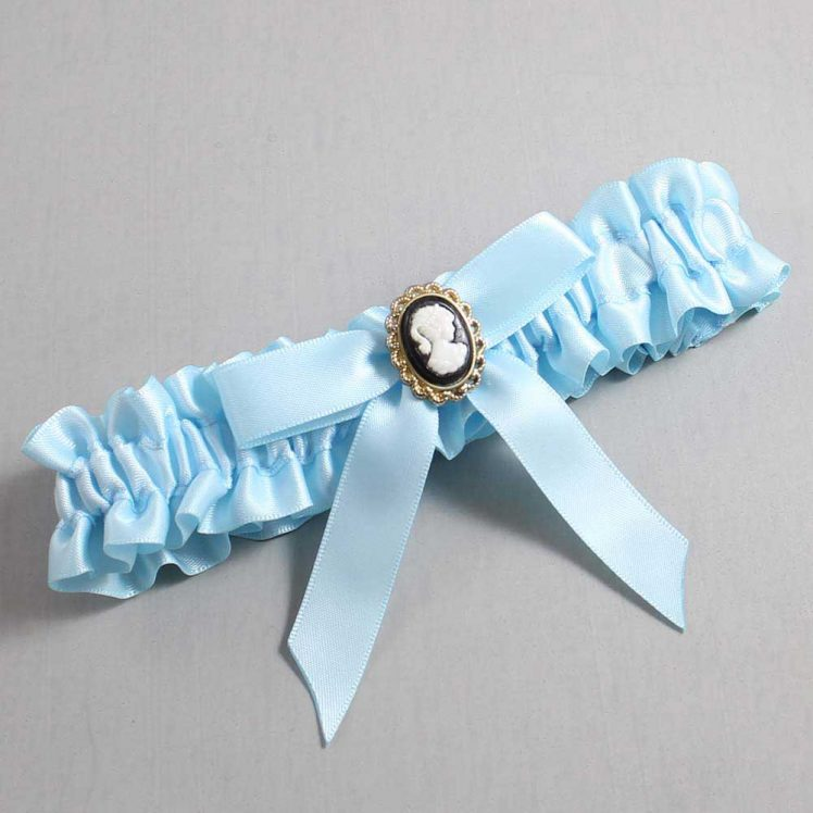 Alice Blue Wedding Garter / Blue Wedding Garters / Dinah #01-B03-M15-305-Alice-Blue / Wedding Garters / Custom Wedding Garters / Bridal Garter / Prom Garter / Linda Joyce Couture