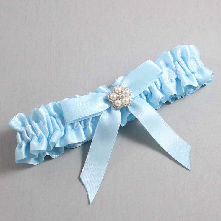 Alice Blue Wedding Garter / Blue Wedding Garters / Amelia #01-B03-M20-305-Alice-Blue / Wedding Garters / Custom Wedding Garters / Bridal Garter / Prom Garter / Linda Joyce Couture