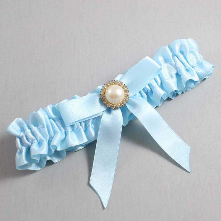 Alice Blue Wedding Garter / Blue Wedding Garters / Doreen #01-B03-M21-305-Alice-Blue / Wedding Garters / Custom Wedding Garters / Bridal Garter / Prom Garter / Linda Joyce Couture