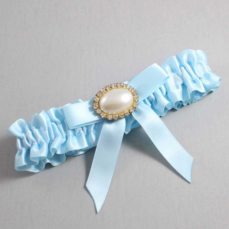 Alice Blue Wedding Garter / Blue Wedding Garters / Eva #01-B03-M28-305-Alice-Blue / Wedding Garters / Custom Wedding Garters / Bridal Garter / Prom Garter / Linda Joyce Couture