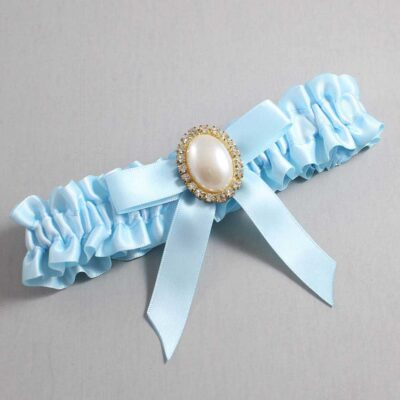 Alice Blue Wedding Garter / Blue Wedding Garters / Harmony #01-B03-M29-305-Alice-Blue / Wedding Garters / Custom Wedding Garters / Bridal Garter / Prom Garter / Linda Joyce Couture