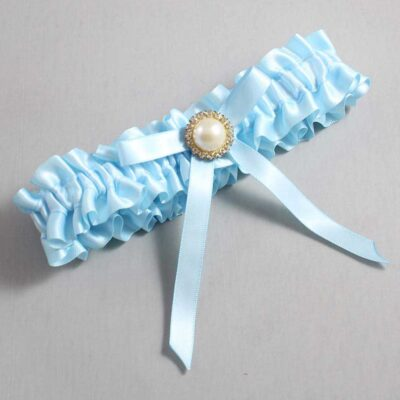 Alice Blue Wedding Garter / Blue Wedding Garters / Dixie #01-B04-M21-305-Alice-Blue / Wedding Garters / Custom Wedding Garters / Bridal Garter / Prom Garter / Linda Joyce Couture