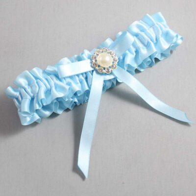 Alice Blue Wedding Garter / Blue Wedding Garters / Diana #01-B04-M24-305-Alice-Blue / Wedding Garters / Custom Wedding Garters / Bridal Garter / Prom Garter / Linda Joyce Couture