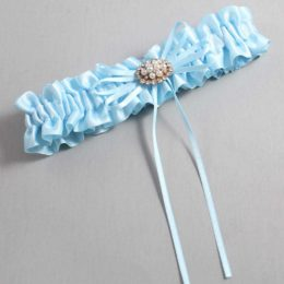 Alice Blue Wedding Garter / Blue Wedding Garters / Belinda #01-B10-M16-305-Alice-Blue / Wedding Garters / Custom Wedding Garters / Bridal Garter / Prom Garter / Linda Joyce Couture