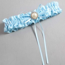 Alice Blue Wedding Garter / Blue Wedding Garters / Faith #01-B10-M21-305-Alice-Blue / Wedding Garters / Custom Wedding Garters / Bridal Garter / Prom Garter / Linda Joyce Couture