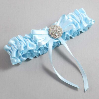 Alice Blue Wedding Garter / Blue Wedding Garters / Autumn #01-B11-M11-305-Alice-Blue / Wedding Garters / Custom Wedding Garters / Bridal Garter / Prom Garter / Linda Joyce Couture