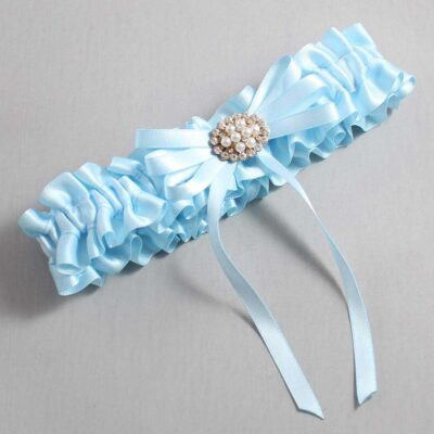 Alice Blue Wedding Garter / Blue Wedding Garters / Cheryl #01-B11-M16-305-Alice-Blue / Wedding Garters / Custom Wedding Garters / Bridal Garter / Prom Garter / Linda Joyce Couture