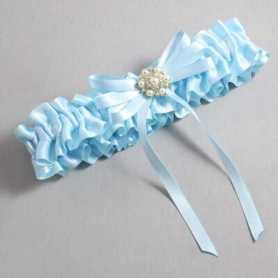 Alice Blue Wedding Garter / Blue Wedding Garters / Ellie #01-B11-M27-305-Alice-Blue / Wedding Garters / Custom Wedding Garters / Bridal Garter / Prom Garter / Linda Joyce Couture