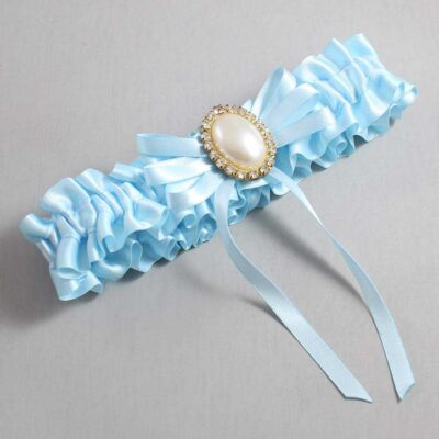 Alice Blue Wedding Garter / Blue Wedding Garters / Felina #01-B11-M29-305-Alice-Blue / Wedding Garters / Custom Wedding Garters / Bridal Garter / Prom Garter / Linda Joyce Couture