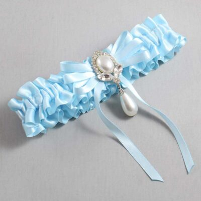Alice Blue Wedding Garter / Blue Wedding Garters / Felicia #01-B11-M32-305-Alice-Blue / Wedding Garters / Custom Wedding Garters / Bridal Garter / Prom Garter / Linda Joyce Couture
