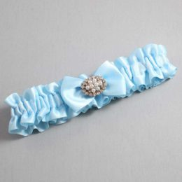 Alice Blue Wedding Garter / Blue Wedding Garters / Annika #01-B21-M16-305-Alice-Blue / Wedding Garters / Custom Wedding Garters / Bridal Garter / Prom Garter / Linda Joyce Couture