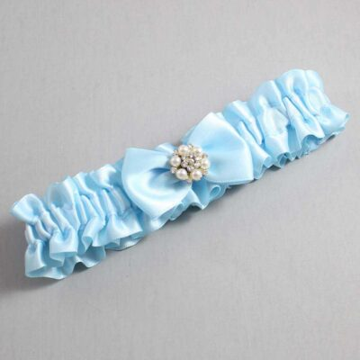 Alice Blue Wedding Garter / Blue Wedding Garters / Alexia #01-B21-M23-305-Alice-Blue / Wedding Garters / Custom Wedding Garters / Bridal Garter / Prom Garter / Linda Joyce Couture