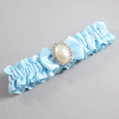 Alice Blue Wedding Garter / Blue Wedding Garters / Chelsea #01-B21-M31-305-Alice-Blue / Wedding Garters / Custom Wedding Garters / Bridal Garter / Prom Garter / Linda Joyce Couture