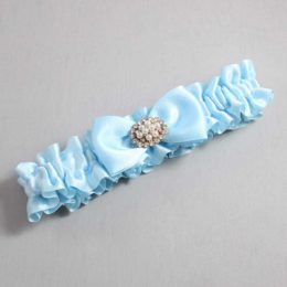 Alice Blue Wedding Garter / Blue Wedding Garters / Kathy #01-B31-M16-305-Alice-Blue / Wedding Garters / Custom Wedding Garters / Bridal Garter / Prom Garter / Linda Joyce Couture