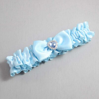 Alice Blue Wedding Garter / Blue Wedding Garters / Judy #01-B31-M25-305-Alice-Blue / Wedding Garters / Custom Wedding Garters / Bridal Garter / Prom Garter / Linda Joyce Couture