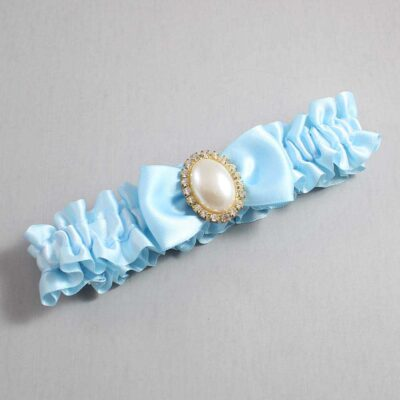 Alice Blue Wedding Garter / Blue Wedding Garters / Mindy #01-B31-M29-305-Alice-Blue / Wedding Garters / Custom Wedding Garters / Bridal Garter / Prom Garter / Linda Joyce Couture