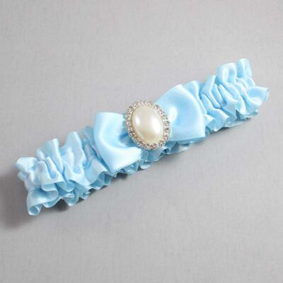 Alice Blue Wedding Garter / Blue Wedding Garters / Mindy #01-B31-M31-305-Alice-Blue / Wedding Garters / Custom Wedding Garters / Bridal Garter / Prom Garter / Linda Joyce Couture