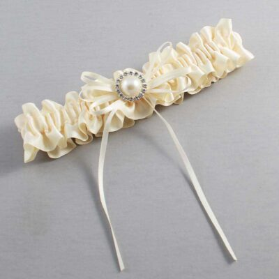 Ivory Wedding Garter / Ivory Wedding Garters / Faith #01-B10-M21-871-Ivory / Wedding Garters / Custom Wedding Garters / Bridal Garter / Prom Garter / Linda Joyce Couture
