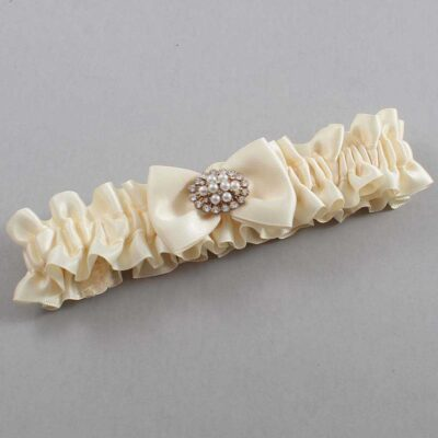 Ivory Wedding Garter / Ivory Wedding Garters / Betty #01-B21-M17-871-Ivory / Wedding Garters / Custom Wedding Garters / Bridal Garter / Prom Garter / Linda Joyce Couture