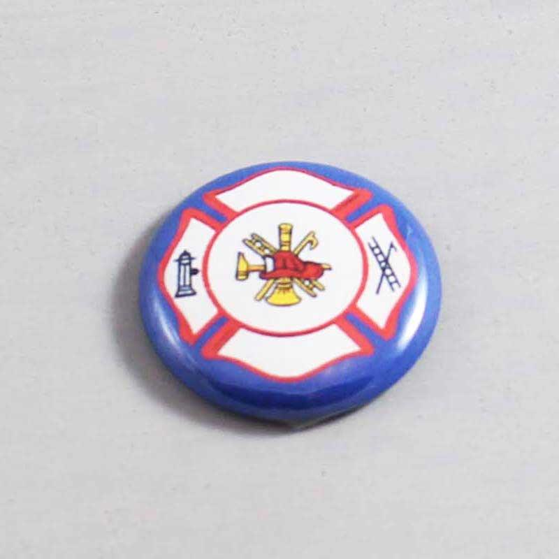 Firefighter Button 04 Blue