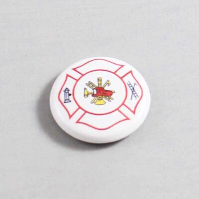 Firefighter Button 04 White