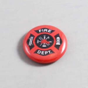 Firefighter Button 09 Dark Red