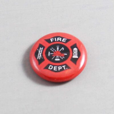 Firefighter Button 09 Dark Red
