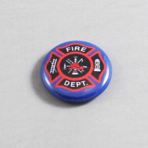 Firefighter Button 09 Navy Blue