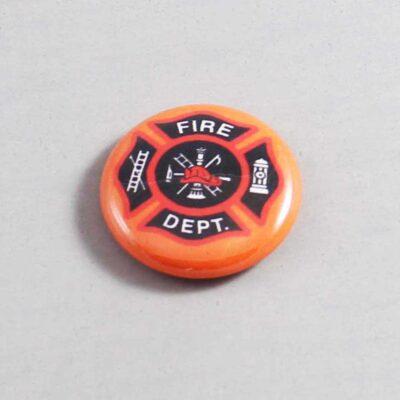 Firefighter Button 09 Orange
